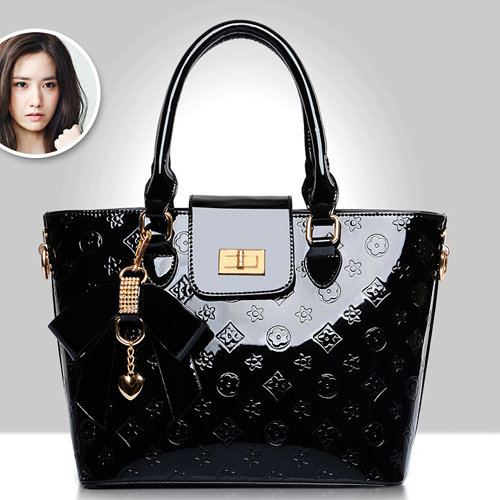 New Arrival Women Handbags 2015 Famous Brands Bow Patent Leather Tote Bag  Ladies Shoulder Bag Designer Handbags High Quality e40bdd464cd16