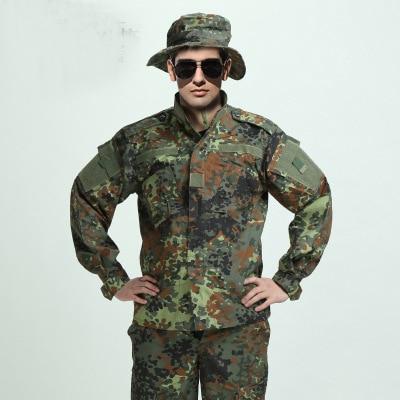 ΓΕΡΜΑΝΙΚΟ ΑΣΗΜΙ WOODLAND CAMO Κοστούμι ACU BDU Σειρά στρατιωτικών σωμάτων καμουφλάζ Σειρά CS Combat Tactical Paintball Uniform Jacket & Pants