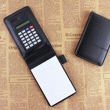Купить с кэшбэком 2015 new design creative stationery  PU leather notepad notebook diary memo planner with mini notepad and calculator