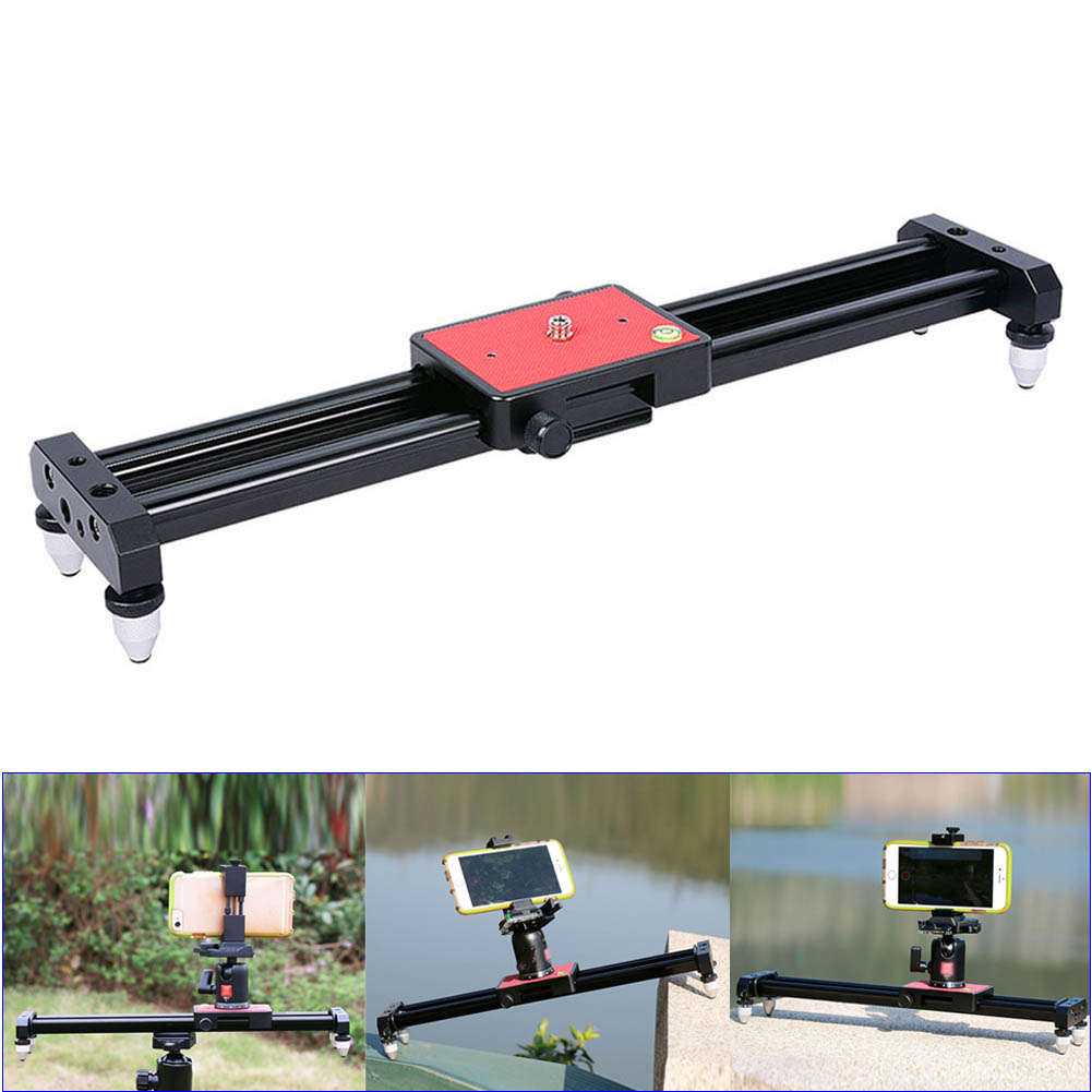 40cm Portable Mini Video Slider Stabilizer Compact Dolly Rail Youtube Vloging Gear Travel DSLR DV Camera Damping Track GDeals 60cm mini camera video slr stabilizer 3 axis silent damping slide portable compact track slider rail system