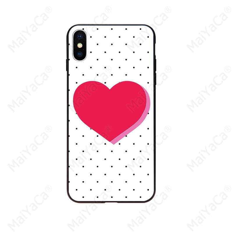 ための iphone 11 水玉ミッキーミニー愛ハート TPU 黒電話ケースシェルのための iphone X XS 最大 6 6s 7 7 プラス 8 8 プラス 5 5S 、 SE XR