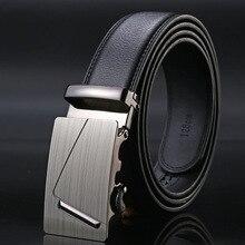 Famous Brand Belt Men Good Quality Cowskin Genuine Luxury Leather Men's Belts for Men,Strap Male Metal Automatic Buckle