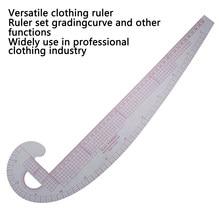 Regla de costura métrica curva francesa de plástico, regla de medida a medida, juego de curva de 360 grados, regla curva de clasificación, herramientas para fabricación de ropa
