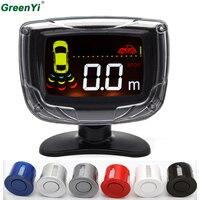 4 Sensors 22mm LCD Backlight Display Car Parking Sensor Reverse Backup Radar Ultrasonic Detector Parktronic 6 Colors