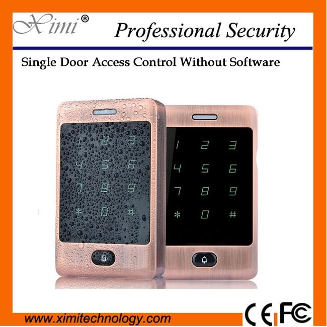 Smart door lock new arrival mi-fare card reader IP65 Waterproof with keyboard free shipping M13A door access control smart lock new arrival ip65 door mirror rfid reader