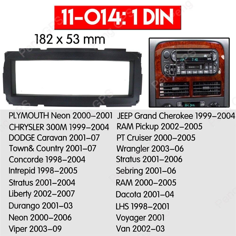 Adaptador DIN de antena autoradio para Chrysler Neon PT Cruiser Sebring Voyager