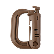 1pc D Shape Climbing Carabiner Screw Lock Bottle Hook Buckle Hanging Padlock Keychain Camping Hiking Snap Clip free shipping