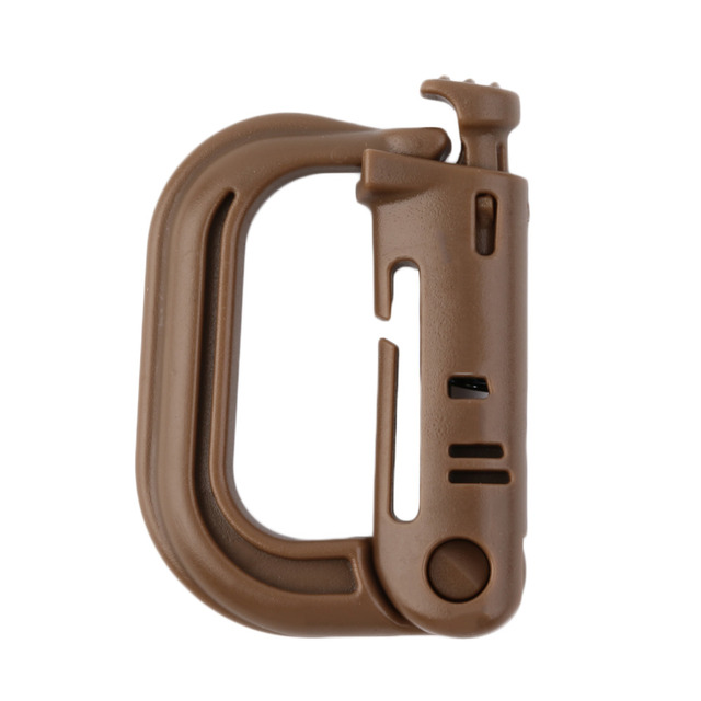 1pc D Shape Climbing Carabiner Screw Lock Bottle Hook Buckle Hanging Padlock Keychain Camping Hiking Snap Clip free shipping