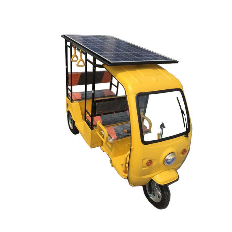 Горячая продажа 6-7 пассажиров Электрический Солнечный трицикл/тележка/грузовик с тремя колесами Tuk Tuks с солнечными панелями Бесплатная доставка по морю