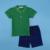 Ladouby muchachos 2 unidades sólido camisa de polo y denim short 3-8years