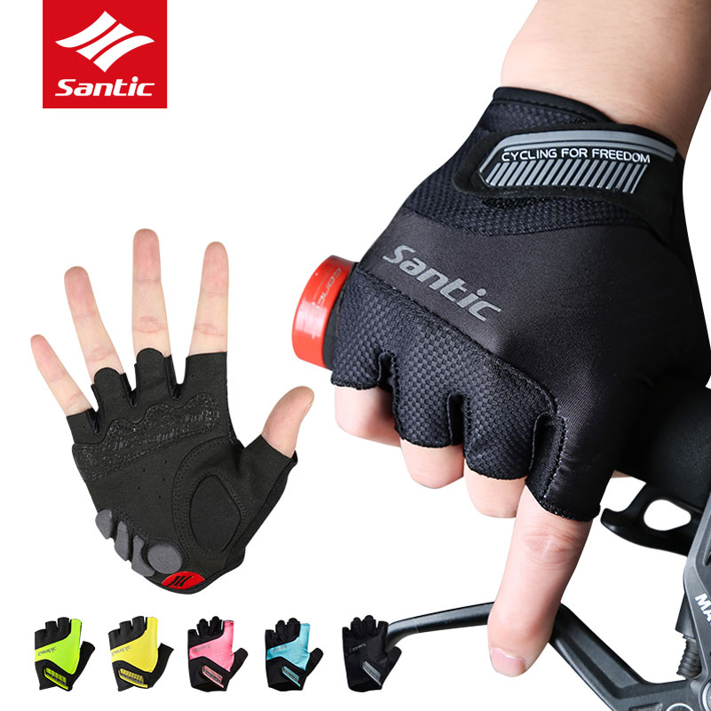 Santic Half Finger Cycling Gloves Men Women Washable MTB Road Bike Gloves Breathable Non-Slip Bicycle Mittens Guantes Ciclismo cycling gloves half finger men women breathable sports bicycle bike motorcycle gloves anti slip guantes ciclismo m l xl