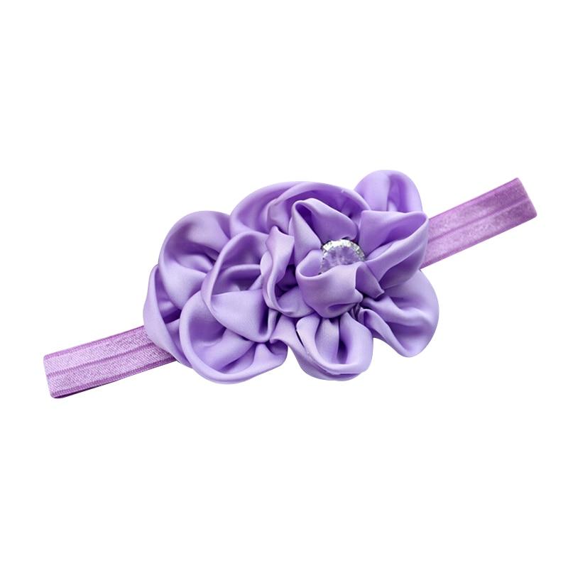 YOST  Bandeau des Fleurs pour Bebes Filles Mousseline de Soie Beaute(Violet)