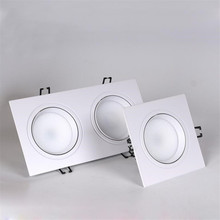 Dimmable Square COB 10W 2*10W Fog LED Downlight  Spot Recessed Ceiling Light Bulbs White shell / Black