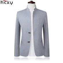 Blazer Men 2017 High Quality Suit Jacket Male Style Stand Collar Male Blazer Slim Fit Mens Blazer black Jacket Men Size M-5XL