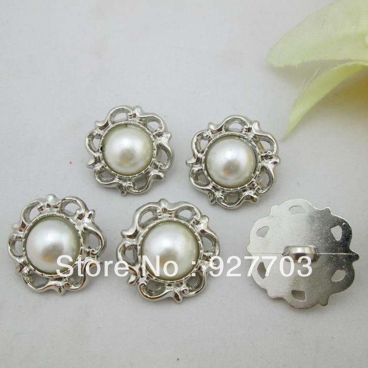 Φ_Φ(Cm616) lote 40 resina marfil perla flor caña Botones para ...