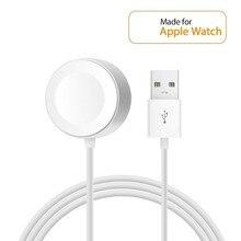 Магнитное зарядное устройство для Apple Watch USB Беспроводная зарядка 38 мм и мм 42 мм для iWatch Series 4 3 2 оригинал 1 м сертифицированное зарядное устройство для часов