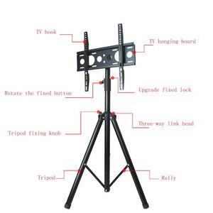 Image 4 - גובה מתכוונן טלוויזיה רצפת חצובה Stand 15 kg הטיה מסתובב LCD צג נייד חצובה הר נייד טלוויזיה מעלית מחזיק VESA 400x400mm