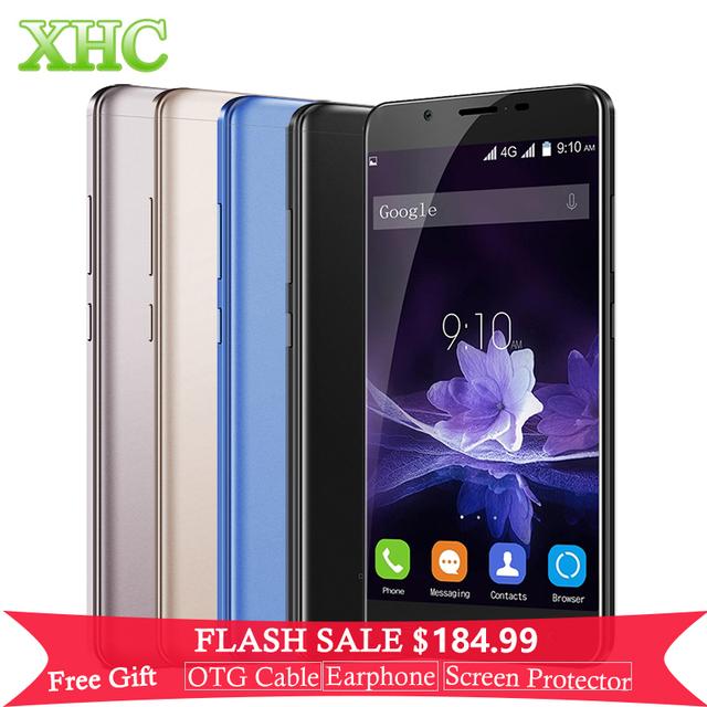 Blackview p2 5.5 pulgadas del teléfono móvil 6000 mah 4 gb + 64 gb huella digital id Android 6.0 Octa Core 8MP MTK6750T + 13MP FHD 4G LTE Celular teléfono