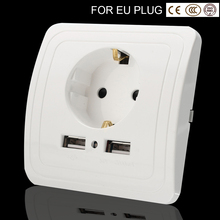 wall Socket eu plug usb wall outlet Port 250V  Charger Socket With usb electrical outlet kitchen plug sockets