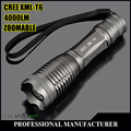 CREE XM-L T6 Rechargerable LED Flashlight 4000 Lumens Tactical Flashlight LED Torch Zoomable Light 3xAAA or 1x18650 Camping