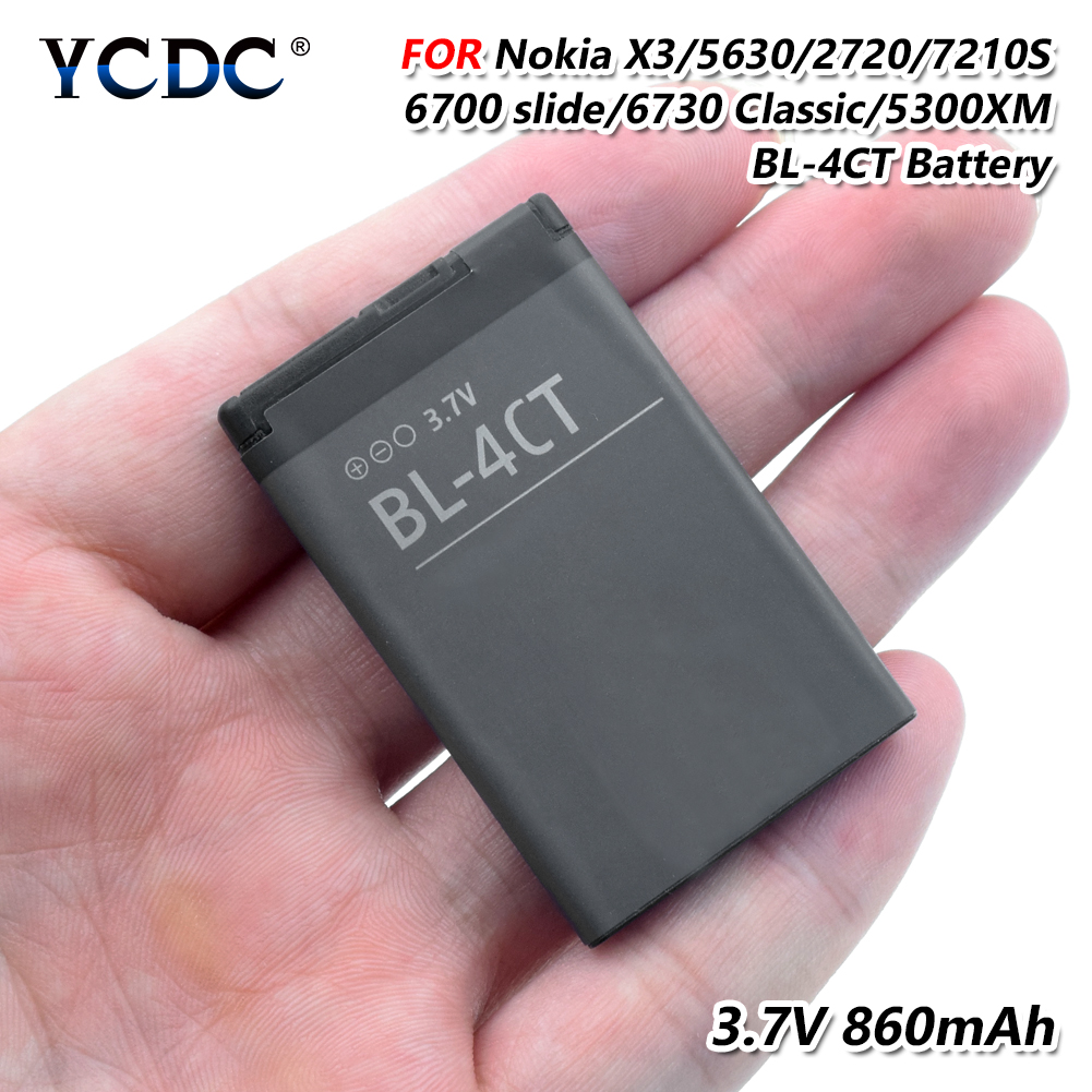 YCDC 3.7V 860mAh BL-4CT BL4CT Original li-ion Battery For <font><b>Nokia</b></font> 7210S 7310C 6700S <font><b>7230</b></font> X3 X3-00 2720A 3720 6702S 5300XM 6730C image
