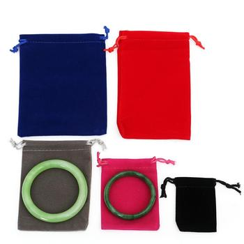 "4.7""*5.9"" (12*15 cm) Black Red Blue Purple Jewelry Pouches Bags Velvet Drawstring Bags for Rings Necklace Packaging supplies"