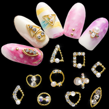10pcs 4-12mm 3D Nail Art Charms Gold/Sliver Metal Alloy Rhinestones Crystal DIY Nail Art Decorations For Manicure Accessories#YL 10g bag diy marquise acrylic gold sliver 3d nail art decorations charms glitter nail decoration tools sticker tips