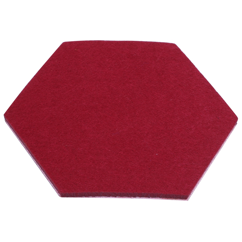 HOT-Hexagon Pad Cork Board/Pin Board, 9-Pack Colorful Wall Tiles Memo Felt Board For Wall Stickers Home Decors(China)