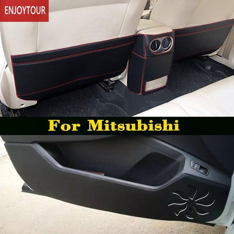 Tapis Anti-coup de pied de siège de porte avant arrière de voiture pour Mitsubishi Montero Pajero Shogun v97 v93 Outlander Sport asx RVR Lancer ex