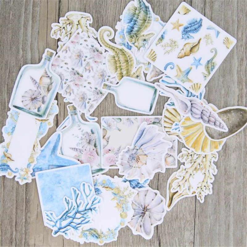 29 piezas pintadas a mano papel de Vida Marina juguetes pegatinas copos para diario decoración de coche Diy Scrapbooking niños pegatina