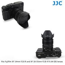 JJC Black Camera  Lens Hood for FUJINON XF14mm F2.8 R & FUJINON XF18 55mm F2.8 4 R LM OIS LENS On Fujifilm X T4 X T200 X A7 XT4