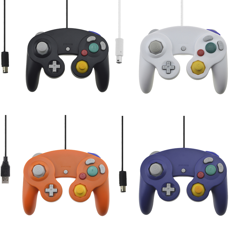 Wired Controller Vibration Shock Joypad Joystick For Gamecube NGC GC for PC MAC Computer Controle Accessories