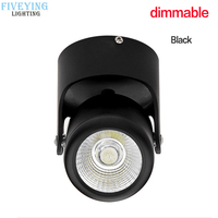 Dimmable LED downlights COB 3W 5W 7W 10W LED Ceiling Spot Lamps 360 Degree Rotation AC110V 220V