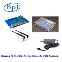 Whole Set 4 1pcs BPI-R1 Router Board+ Case+ Power Adapter+3DB Antenna