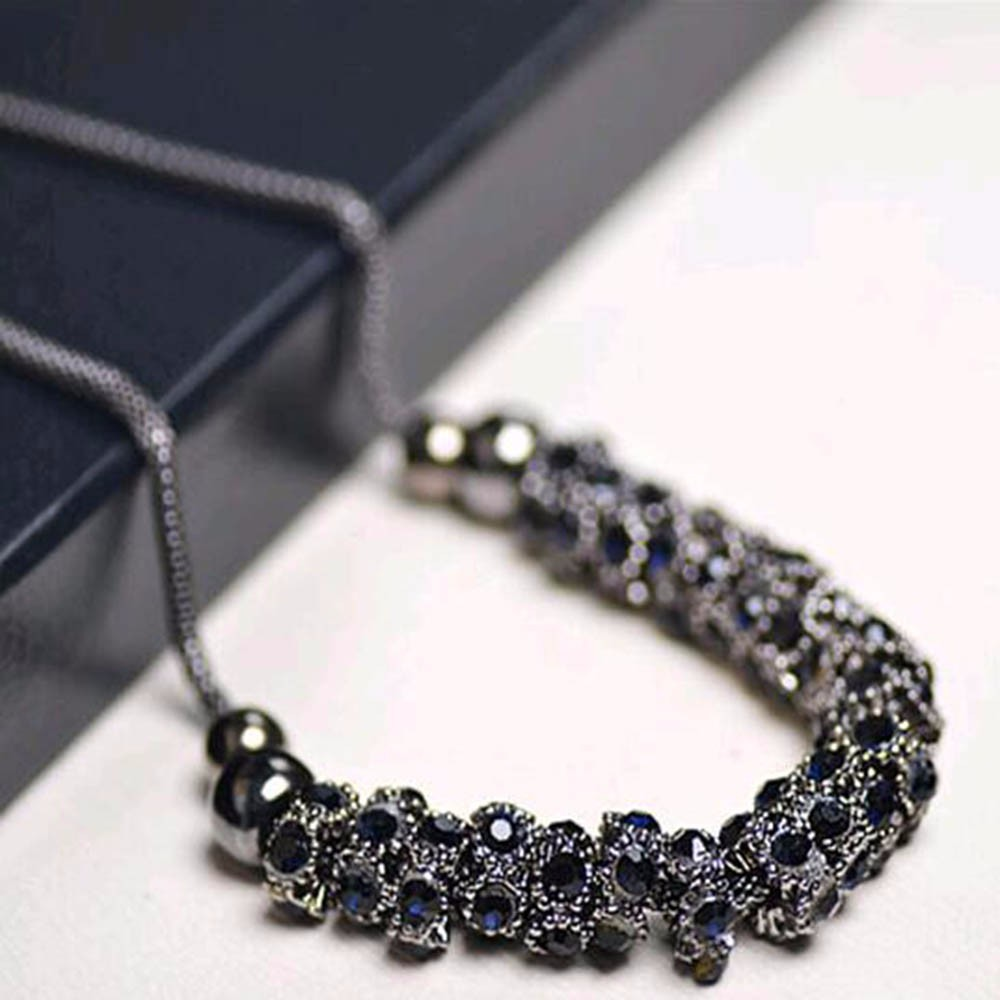 tomtosh-1pcs-imitation-diomands-rhinestone-acrylic-choker-crystal-water-drop-snake-chain-necklace-el