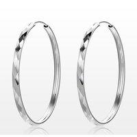 Screw Big Hoop Circle Earrings Wedding Ear Hooks Earrings for Women Fashion Personalized Jewelry Birthday Gift