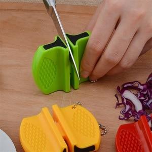 Image 4 - Портативная мини точилка для кухонных ножей, кухонные инструменты, аксессуары, креативный Тип бабочки, двухступенчатая точилка для карманных ножей для кемпинга