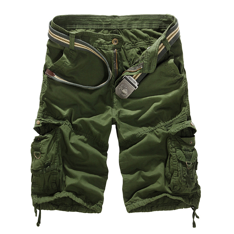 Mens Military Cargo   Shorts   2019 New Army Camouflage Tactical   Shorts   Men Cotton Loose Work Casual   Short   Pants Plus Size no belt