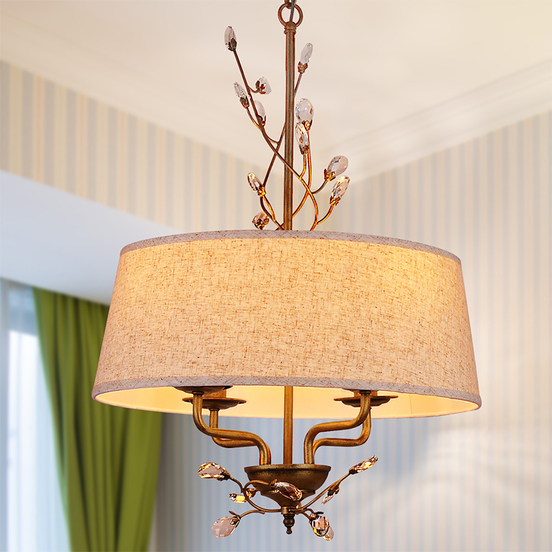 Nordic country crystal chandelier + classic iron living room living room room learning art lighting pendant lamp m american living room retro art chandelier nordic country antler chandelier clothing store villa candle lamp
