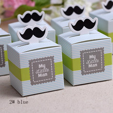 candy box bag chocolate paper gift box blue green for Birthday Wedding Party Decoration craft DIY favor baby shower Wh(China)