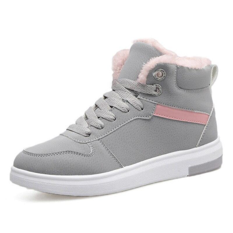 2018 nouvelles bottes de neige d'hiver femelle étudiants à fond plat sport bottes, flanelle épaississement, tube court, bottes chaudes, coton chaussures.