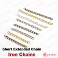 (25140)100PCS Chain width 3MM,Short Iron Extended chain for Necklace Chains Diy Jewelry Findings