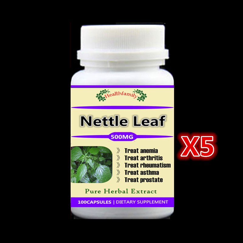 5 bottles Stinging Nettle Leaf PE. supplement Treatment of anemia arthritis rheumatism asthma and prostate,free shipping ranju bansal rakesh yadav and gulshan kumar asthma molecular basis and treatment approaches