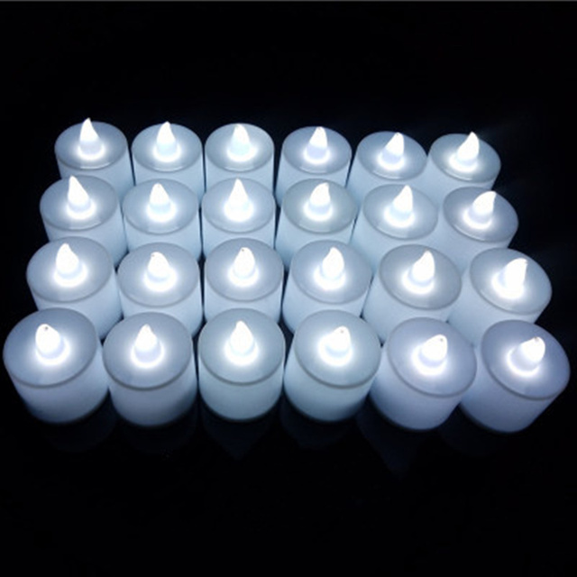 24pcs Creative romantic LED prop electronic candle for wedding party decorative lighting night light outdoor lighting