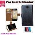 Apenas 5 Blaster caso Leather Flip Smartphone antiderrapante Case para apenas 5 Blaster bolsa capa Slots de cartão carteira 7 cores