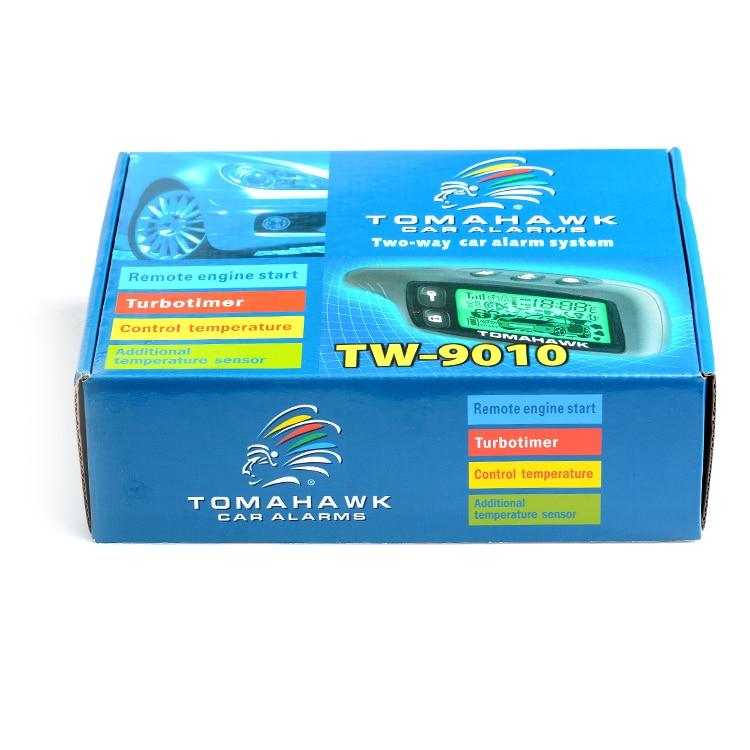 imágenes para Envío gratis Inglés/versión Rusa de dos vías sistema de alarma de coche con LCD de arranque remoto del motor de $ number vías de alarma de coche Tomahawk TW9010