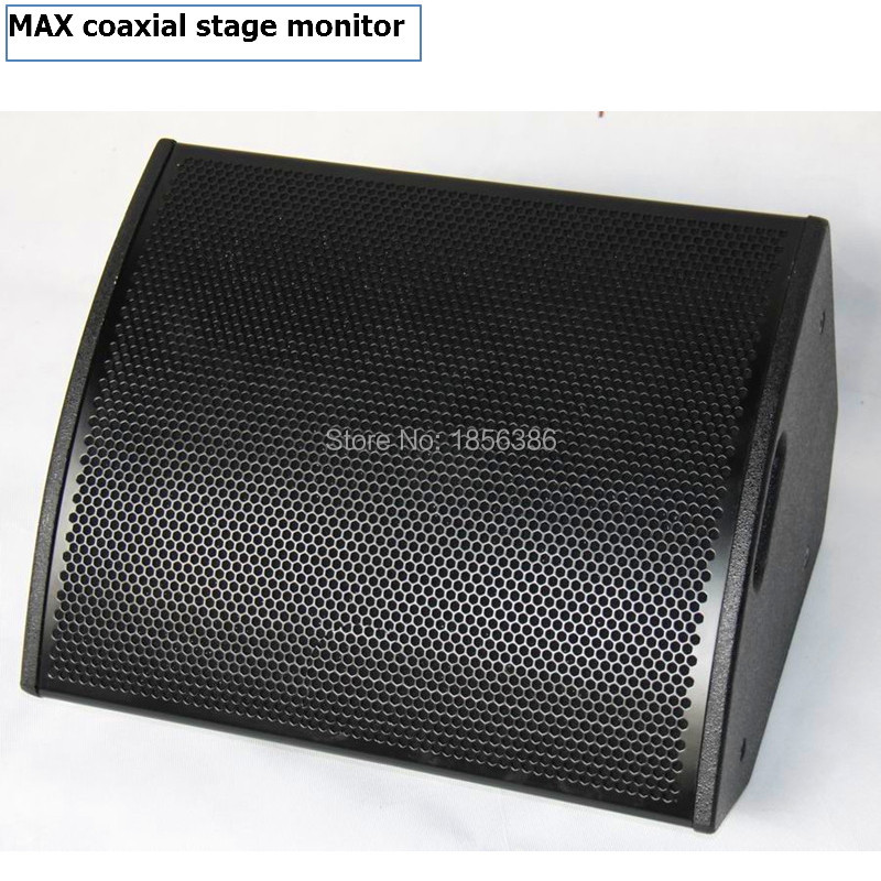 MAX15 coaxial PA speaker enclosure , neodymium coaxial stage monitor for linearray speaker,in professional audio