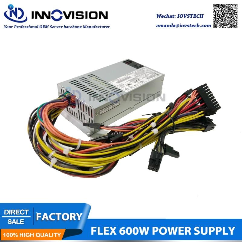 ENP 7660B 1U Мини Гибкий блок питания 600 Вт, 80 плюс Платиновый блок питания с 2*6 + 2 разъем GPU