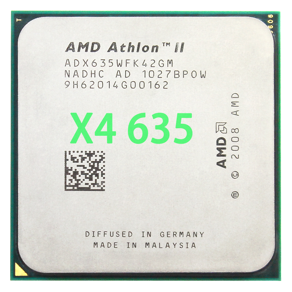 AMD Athlon II X4 635 CPU Processor Quad-CORE 2.9 Ghz/L2 2 M/95 W/ 2000GHz Socket am3 am2 +