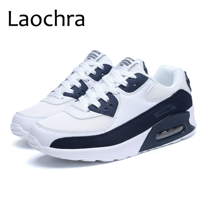 LAOCHRA 2018 New Hot Mens Breathable Casual Shoes Spring Autumn Brand Casual Shoes Men Lace Up Air Cushion Footwear Plus Size 46